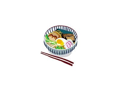 Ramen cuisine noms ramen noodles food japanese illo flat 2d minimal illustrator vector illustration