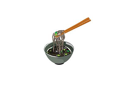 Zaru Soba cuisine zaru soba cold noodles noodles food japanese illo flat 2d minimal illustrator vector illustration