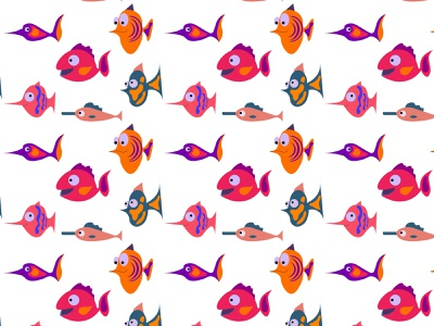 Colorful tropical aquarium fish pattern sea reef ocean nature lifemarine illustration funny fish exotic dive design coral colorful color character cartoon background aquatic aquarium animal