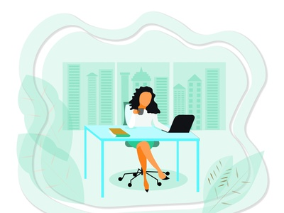 Stylish businesswoman drinking coffee in an office workfromhome urban life jobs laptop success money workspace office worker green urban skyscrapers office work office style businesswoman business