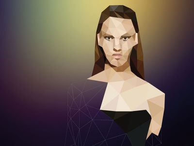 Polygon Woman polygon woman poly geometric triangular brand girl sketch lowpoly