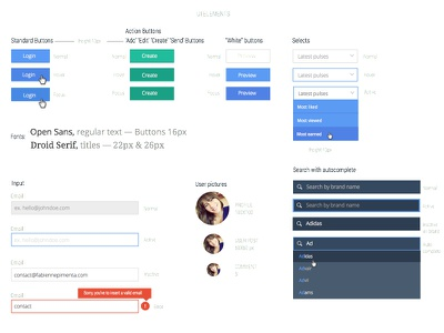 New UI Kit ui elements sketch kit colors dropdowns buttons inputs rules design interface user