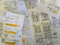 My sketches and wireframes