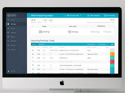Webapp colours flat sidebar status ui bookings list app webapp