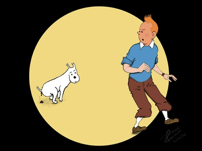 Seriously? Now? what poop time bad intro milou tintin