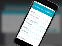 New way to create bookings – mobile version