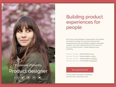 Website redesign product designer portfolio redesign website
