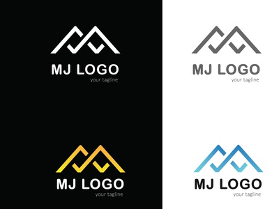 MJ logo app graphic design design vector typography illustration minimal flat icon illustrator logo
