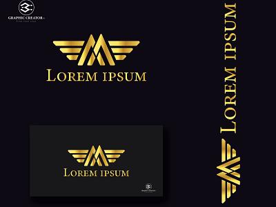 Luxuries M logo type art vector minimal flat icon logo illustrator graphic design design