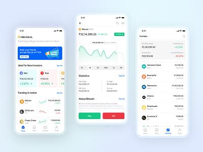 Crypto Trading App 2020 design figma ux ui minimal crypto trading bitcoin blockchain trading app trading cryptocurrency app crypto