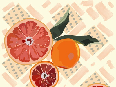 Fruity Orange fruit illustration flat illustration winter summer illustraion illustrator fresh orange fruit