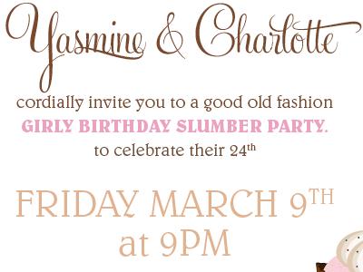 Birthday invitation girly invite birthday party cupcake