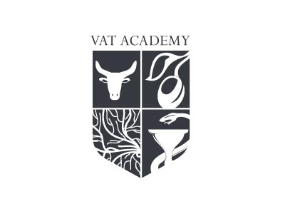 VAT Academy logo design 1 logo spain academy crest coat of arms olive bull design medical blood arterial toro shield sketch