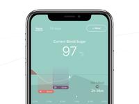 Blood Sugar Graph - Current Status