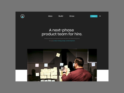 Headway.io 2.0 - Home Page ui motion design figma website concept home page agency after effects website animation website