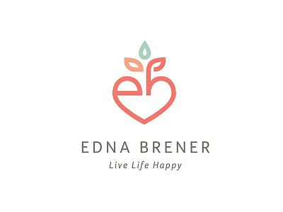 Edna Brener — health coach initials monogram fruit heart health