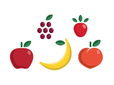 Some Juicy Illustrations — WIP colorful illustration fruit