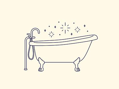 Magic Bath simple monoline magic tub bath bathbomb