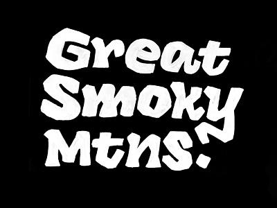 Great Smoky Mtns — typecooker lettering artist logo inverse type design typecooker sketch lettering