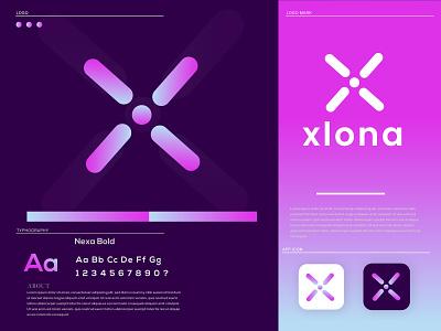 xloan x letter logo innovative technology app icon symbol logo icon unique creative minimalist logo flat logo modern logo logo design