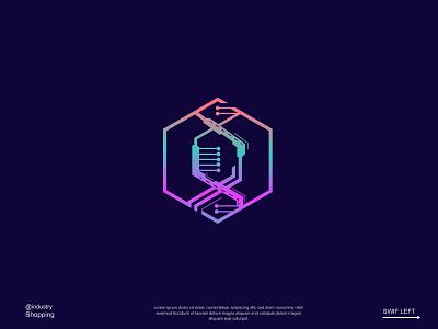 bDNA.SOLUTIONS medical logo logodesign tech technology logo creative logo modern logo logo bio helix dna logo design