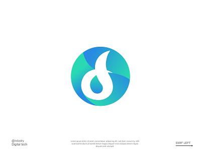 Daro flat technology logo app logo icon brand identity logotype minimalist logo professional business logo modern logo design
