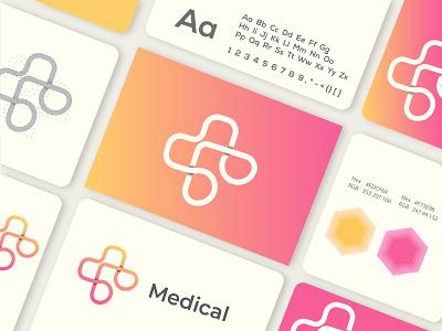 MEDICAL LOGO tech logo dental logo logo identity brand identity logo designer cool logos logo mark brand style guide style guide branding modern logo