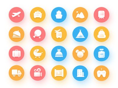 Idea#052 Bus Ticket Icons Collection travel