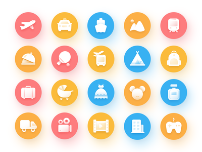 Idea#052 Bus Ticket Icons Collection
