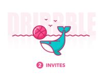 Dribbble Invites 2x
