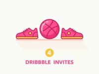 4x Dribbble Invites!