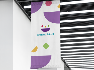 Arma tu plato brand identity identity brand design logodesign design flag logo flat branding