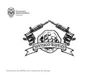 Santiago Waffle 2 illustration brand identity logo branding
