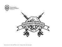 Santiago Waffle 3 logo illustration brand identity branding