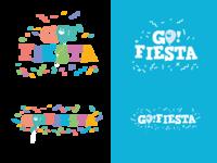 Go Fiesta brand design vector illustration brand identity logo branding