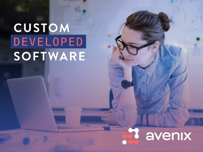 avenix (ad) custom developed software blue colors image banner ad branding logo