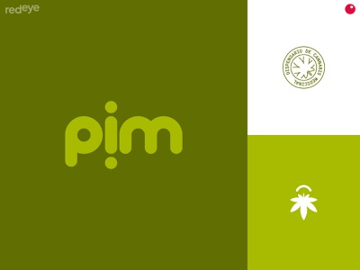 pim weed logo wid asociation weed colors typography design brand brand design flat branding brand identity logo