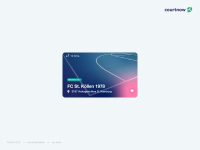Simple card component glow heart favicon fav button love pink ui kit card component card ui design human interface user interface uidesign ui component