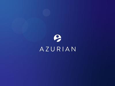 azurian brand brand design flat branding brand identity logo