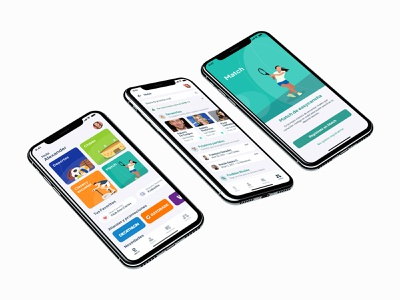 Match easy mobile app sports user experience design user interface design user interface ui  ux design mobile app design ui app