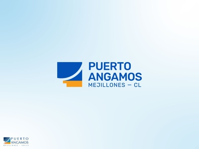 angamos chile harbor portal icon design brand brand design flat branding brand identity logo