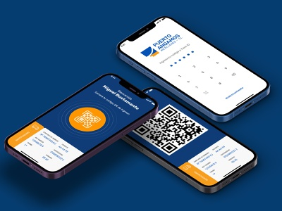 angamos app iphone 12 adobexd app design welcome qrcode pad face id login simple app user experience userinterface mobile design mobile app mobile ui