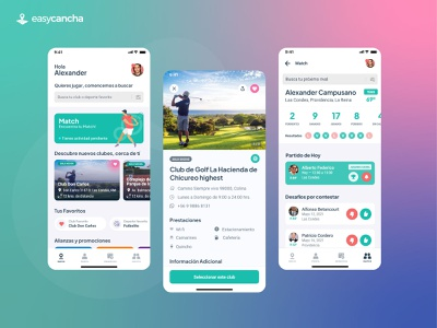 app easycancha flat white ios sports app app design mobile design mobile app mobile app design ux ui