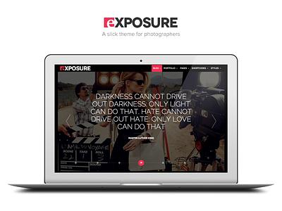 Meet Exposure wordpress theme portfolio blog premium masonry photography themeforest minimal fullscreen