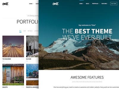 One – the creative multipurpose portfolio & shop theme wordpress theme themeforest premium parallax one page minimal flat portfolio woocommerce bbpress page builder