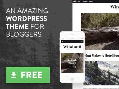 Free WordPress theme for bloggers giveaway responsive blog free theme wordpress