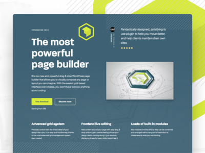 Brix section parallax plugin composer page builder clean typography flat development wordpress