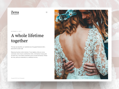 Zena WordPress theme typography themeforest portfolio flat photographer theme wordpress