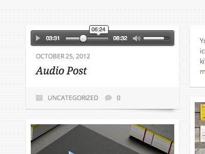 Audio player audio player ui html5 mediaelement css3 icon font