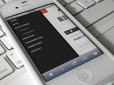 Mobile navigation mobile navigation blog wordpress interface ui theme